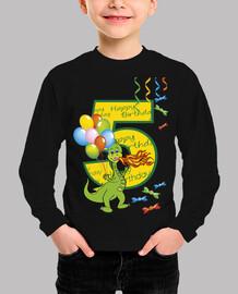 feliz cumpleaños número 5 dragón