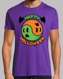 feliz fantasma de halloween yin-yang