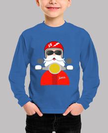 Feliz Navidad con Papá Noel en moto
