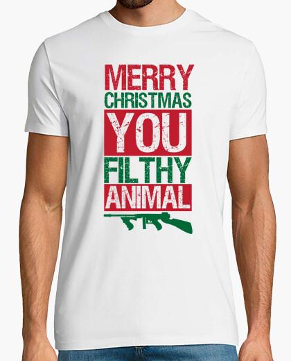 Camiseta Feliz Navidad, Gusano Miserable...