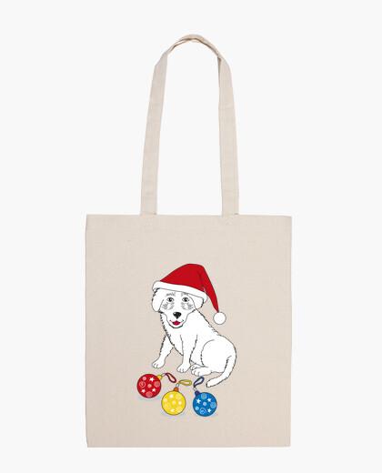 Bolsa Feliz Navidad pequeño perro