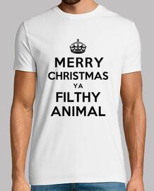 feliz navidad ya sucia animales