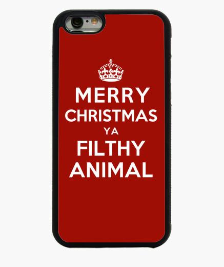 Funda iPhone 6 / 6S feliz navidad ya sucio animal