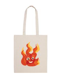 feliz quema de carácter llama del fuego