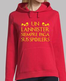 felpa - il trono di spade - un lannister paga sempre i suoi spoiler