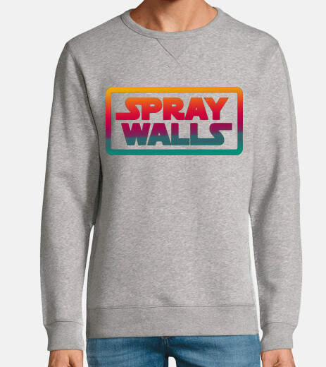 felpa con logo spray wall