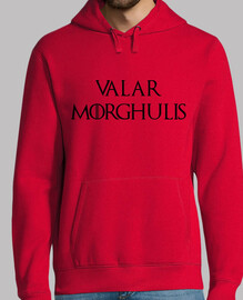 felpa valar morghulis - game of thrones