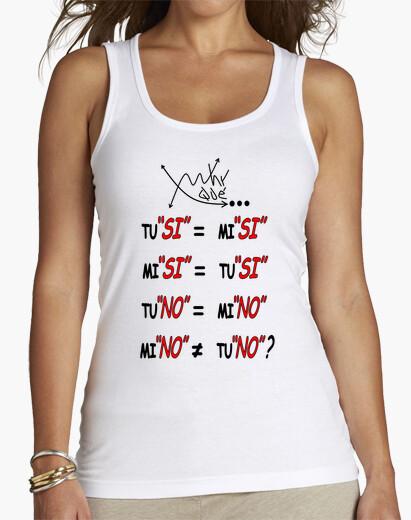 Camiseta Feminismo, igualdadFRASE XQUEWHY Nº 20 FRONTAL Mujer, sin mangas, blanca