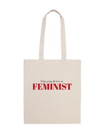 Feminist Bolsa de Algodon