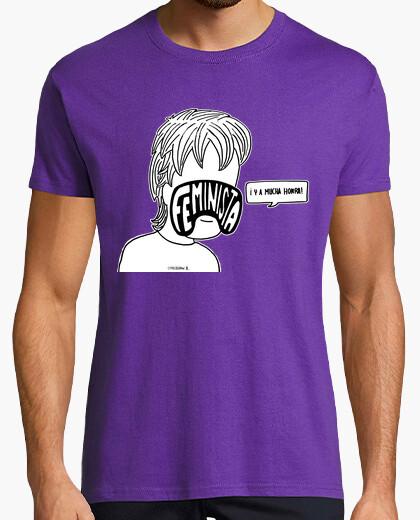 Feminista y a mucha honra camiseta oscu