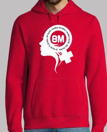 féministe 8m blanche