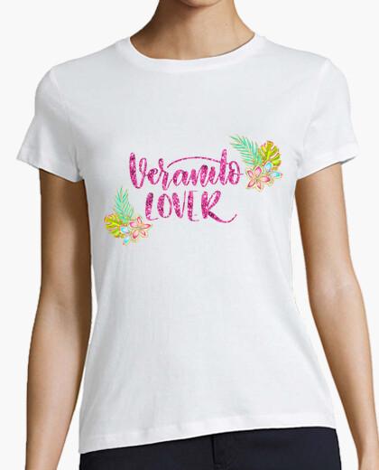 Tee-shirt femme amant veranito, manche courte, blanc, qualité premium
