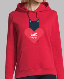 femme, amoureux des chats en pull à capuche (couleurs différentes)
