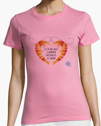 Tee-shirt femme d'amour gambon