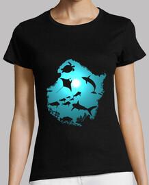 femme de dream sous l'eau