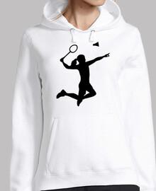 femme fille de badminton