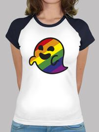femme gaysper, style baseball, blanc et turquoise