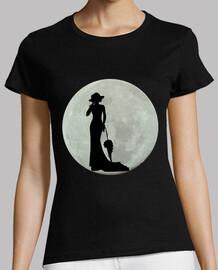 femme vintage pleine lune
