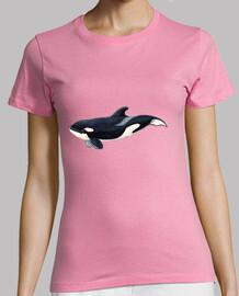 femmes chemise orque, manches courtes, rose, qualité supérieure