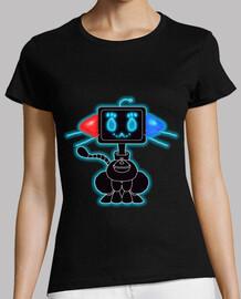 femmes fondante chat de préchauffage t-shirt
