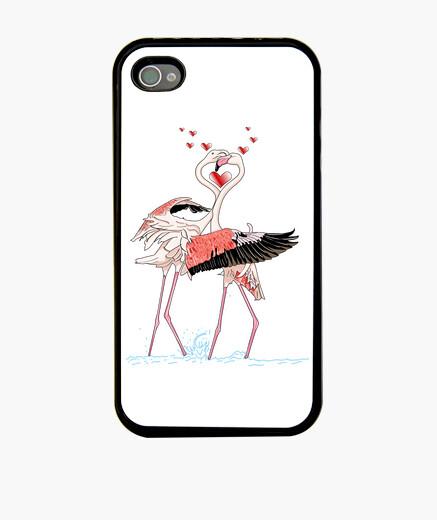 Cover iPhone fenicotteri innamorati