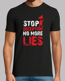 fermare l'inganno non più bugie