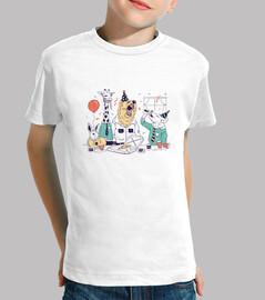 fête animaux chemise enfants