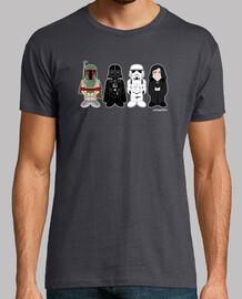 Fett, Vader, Trooper y el emperador