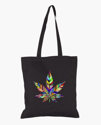 Sac feuille de cannabis arc-en-ciel
