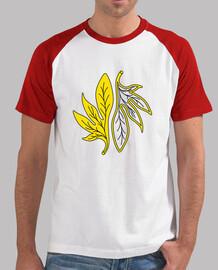 feuilles jaunes stylisées