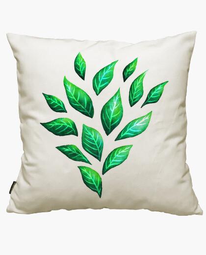 Housse de coussin feuilles vertes décoratives abstraites
