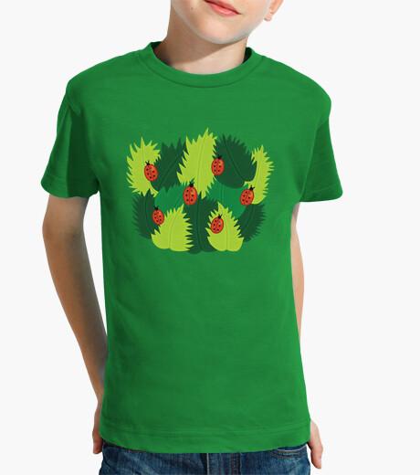 Vêtements enfant feuilles vertes et les coccinelles au printemps