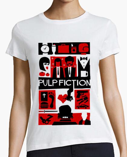 Tee-shirt fiction pulp (style saul bass)