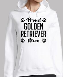 fière maman golden retriever