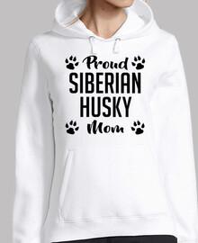fière maman husky sibérienne