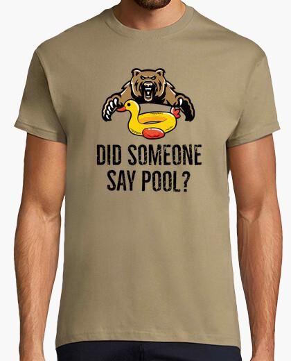 Fiesta de Piscina,  Oso & Duck Float camiseta para hombres, mujeres y niños