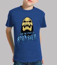 Fight the power in Grayskull (Skeletor). Manga cora azul infantil