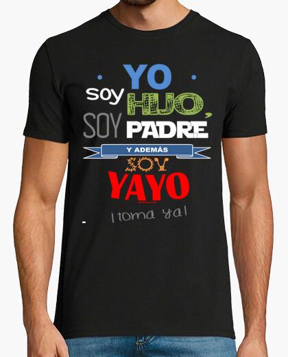 T-shirt figlio, padre e yayo