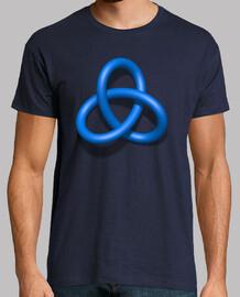 Figura geométrica color azul - Efecto 3D