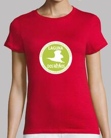 fille  tee shirt  verte et logo blanc