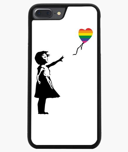 Coque Iphone 7 Plus / 8 Plus fille avec ballon lgtb (iphone)