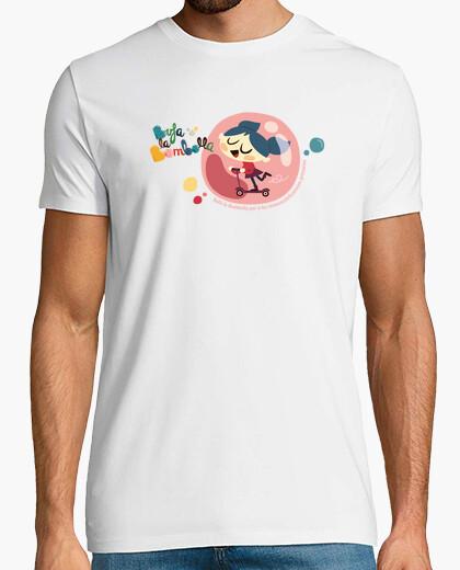Tee-shirt fille en patinage à bulles