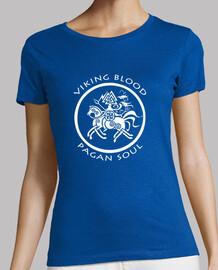 fille t-shirt sang viking âme païenne