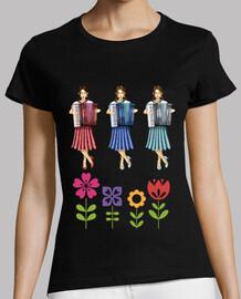 filles accordéon fleurs