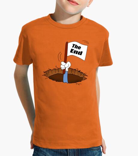 Ropa infantil final de caricatura-camisetas divertida