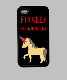 Finally, I'm an unicorn, coque iPhone, noire