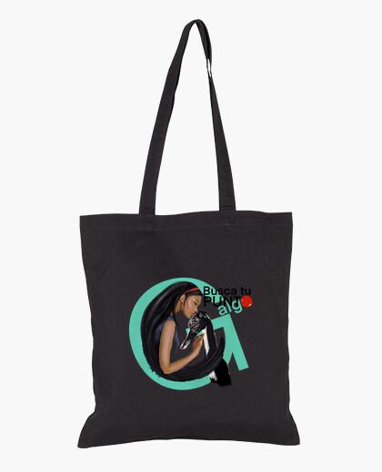 Find your g-something spot. cloth bag, black