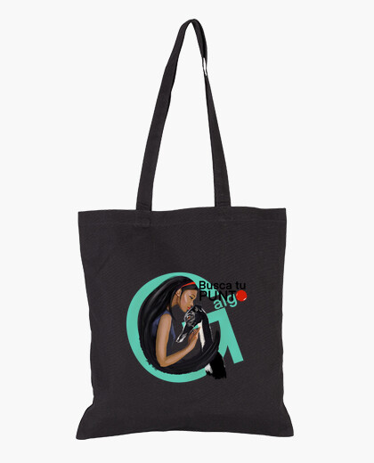 Find your g-something spot. cloth bag, black