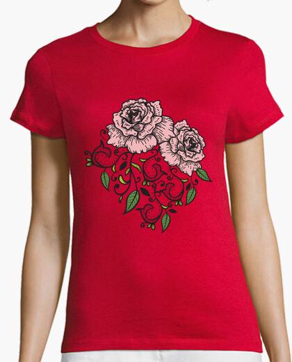 T-shirt fiori rosa