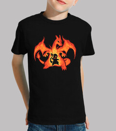 fire dragon within - kids shirt